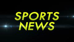SPORTS NEWS Text and Flares Fast, with Alpha Channel, Loop Stock Footage