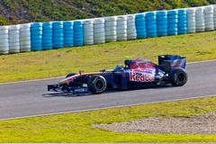team toro rosso f1, jaime.alguersuari, 2011 - stock photo