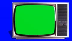 Old tv television opening intro Stock Footage