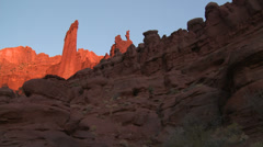 Monumental Desert Rock Fisher Towers Moab #3 Stock Footage
