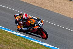 alex rins pilot of 125cc  of the cev championship - stock photo