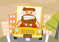 Stock Illustration of road rage.