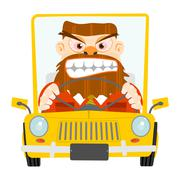Road rage. Stock Illustration