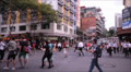 Busy city crossing in slow motion HD Footage
