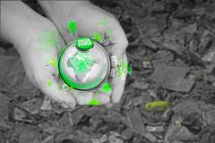 dry cracked earth, save earth, go green, environment, concept - stock illustration