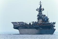 Aircraft carrier principe de asturias Stock Photos