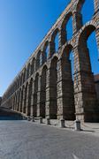 aqueduct of segovia - stock photo