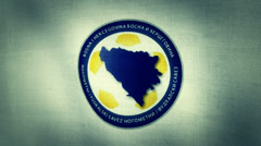 Bosnia Herzegovina World Cup 2014 Flag Logos Stock Footage