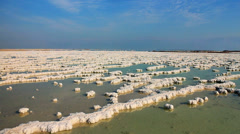 Dead sea salt Stock Footage