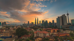 Timelapse of cityscape during sunrise- 1080p Stock Footage