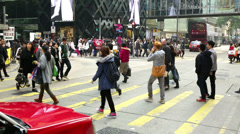 Canton road Street crossing time lapse Stock Footage