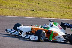 team force.india f1, adrian sutil, 2011 - stock photo