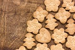Stock Photo of homemade various gingerbread cookies