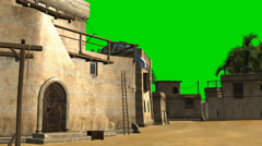 Old desert city - video background - green screen  Stock Footage