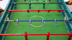 Table Football Game Being Played Stock Video - stock footage