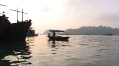 Cat Ba Harbor Stock Footage