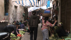 Back Street Market Stock Footage