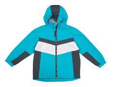 sports jacket with hood - stock photo