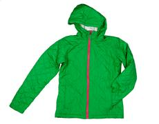 Green quilted jacket Stock Photos