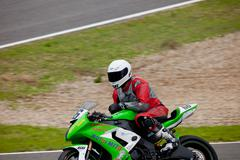andres aparicio pilot of stock extreme in the cev - stock photo