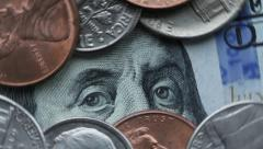 Hundred dollars and cents 1 Stock Footage
