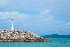 Coastal areas lighthouse. Stock Photos