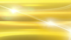Slow flowing abstract motion golden yellow lens flares background Stock Footage