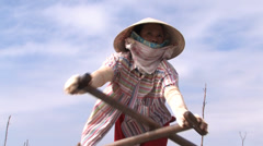 Mekong Taxi Driver - stock footage