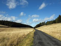 Tableland with road Stock Photos
