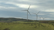Stock Video Footage of Wind turbines 1 - Scotland