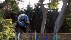 Alien Hexapot Drohne walk on Earth Stock Footage