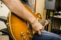 Gibson Les Paul - stock photo