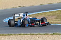 team sauber f1, kamui kobayashi, 2012 - stock photo