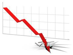 Stock Illustration of curve going through the floor