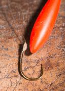 hooks for fishing - stock photo