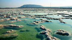 Dead sea solt Stock Footage