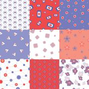 Colorful seamless patterns Stock Illustration