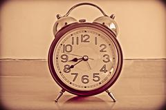 Stock Photo of close-up of an alarm clock