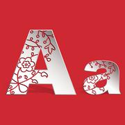 Stock Illustration of 3D ornament  Aa  letter