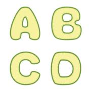 Stitched A B C D letters Stock Illustration