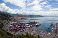 Stock Photo of panoramic view of Salerno