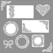 Stock Illustration of Ornament wedding kit