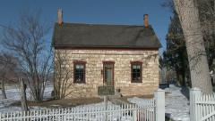 Das Haus pioneer stone rock house rural town 4K 0041 Stock Footage