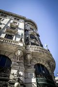 Bank, image of the city of madrid, its characteristic architecture Stock Photos