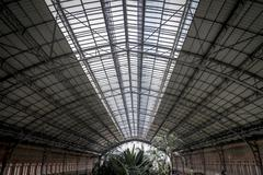 atocha train station, image of the city of madrid, its characteristic archite - stock photo