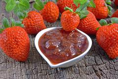 strawberry jam - stock photo