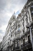 Gran via, image of the city of madrid, its characteristic architecture Stock Photos