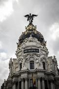 Stock Photo of metropolis, image of the city of madrid, its characteristic architecture
