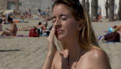 Sunscreen - stock footage