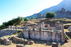The ruins of arcadian gate, peloponnes, greece Stock Photos